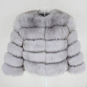 Image 4 - OFTBUY 2020 Winter Jacket Women Real Fur Coat Natural Big Fluffy Fox Fur Outerwear Streetwear Thick Warm Three Quarter Sleeve