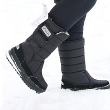 2019 Fashion Snow Boots Men Mid-calf Winter footwear Warm Fur Shoes Plus Size