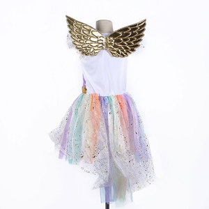 Image 3 - Umorden Movie Unique Deluxe Kids Rainbow Unicorn Costume for Girls Halloween Carnival PartyDress