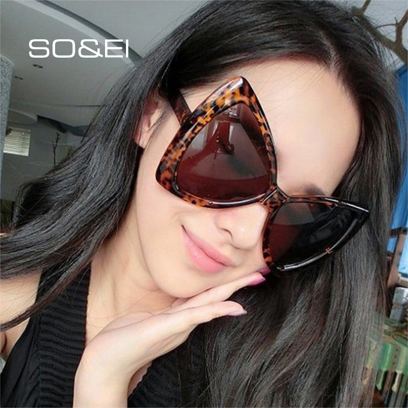 SO&EI Fashion Oversized Bow Shape Women Sunglasses Brand Designer Vintage Gradient Lens Eyewear Cat Eye Ladies Sun Glasses UV400