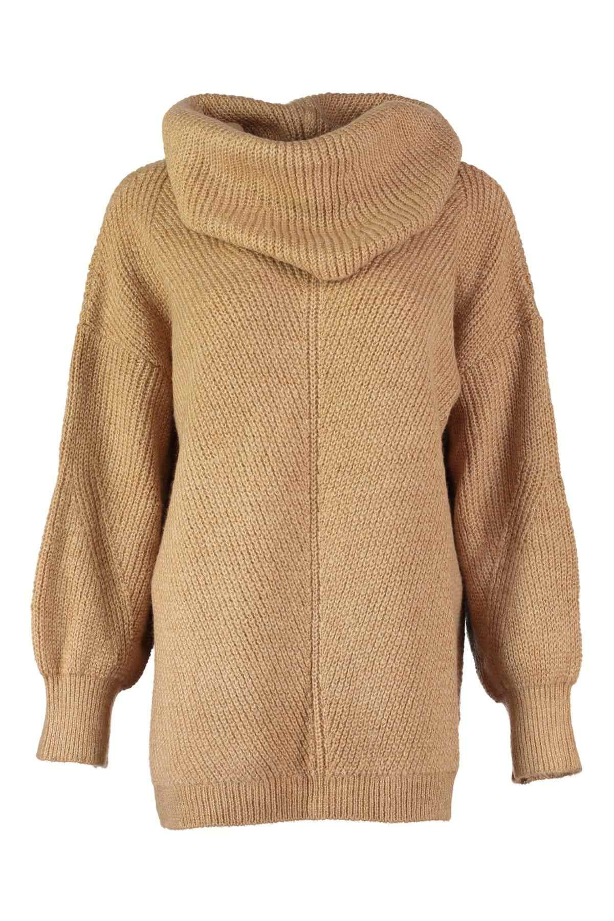 Trendyol WOMEN-Camel Funnel Collar Sweater Winter Sweater TWOAW20NV0015