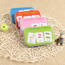 Children's Literacy Recognition Card Iron Box Early Education Pairing Card Puzzle Jigsaw Literacy Card Toy Gifts odell education developing core literacy proficiencies grade 7