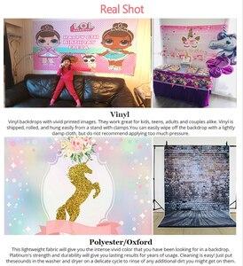 Image 4 - InMemory Cartoon Payaso Plim plim Backdrops For Photography Cute Kids 1st Birthday Backgrounds Boys Baby Shower Banner Custom