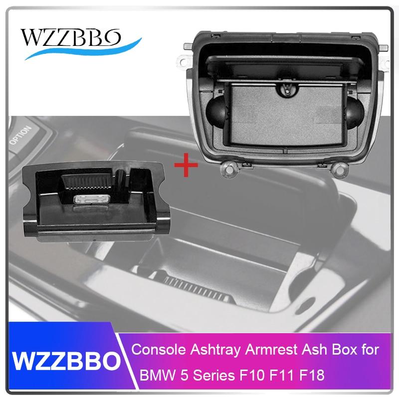 Console Ashtray For F10 F11 Bmw 5 Series Assembly Case Armrest Cigarette Original Model Armrest  Ash Box