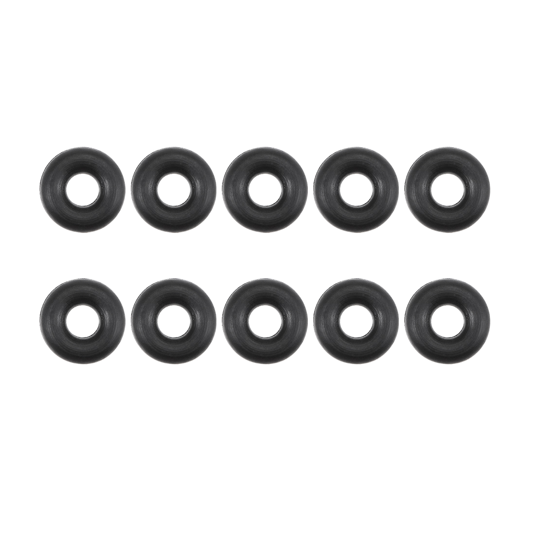 Silicone O-Rings 7mm OD 4mm Inner Diameter 1.5mm Width Seal Gasket White 30Pcs