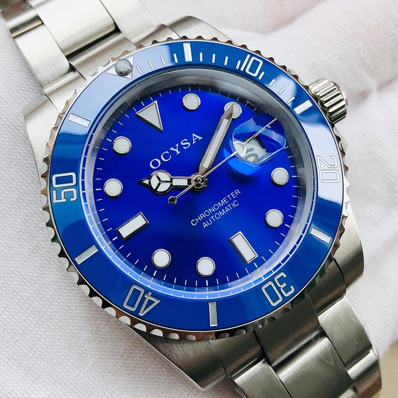 Ocysa marque de luxe mécanique automatique or Relogio Masculino Reloj Hombre en céramique hommes montre Sport hommes montres montre-bracelet homme
