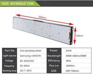 Image 5 - Tự Làm Mờ 240W QB288 Samsung Lm301B LM301H 3000K/3500K Phối 660nm UV Đèn Hồng Ngoại IR LED Phát Triển Ánh Sáng, đèn LED Bảng MEANWELL Lái Xe