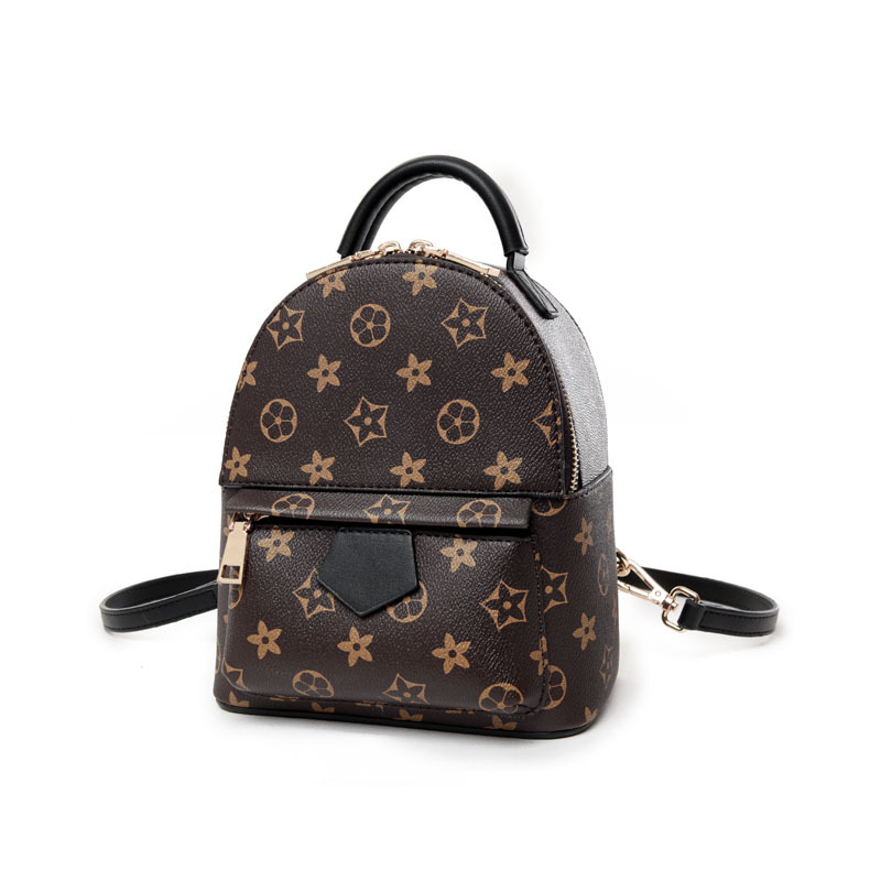 Mini Women 39 s Backpack Anti theft New Fashion Printing PU Leather Color Backpack Shoulder Bag Multi Function Travel Bag in Backpacks from Luggage amp Bags