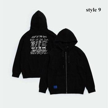 Drop Shipping Cotton Kpop map of the soul 7 tour The Final Zipper Hoodies Korean kpop Hip Hop Casual pullovers Sweatshirts 1
