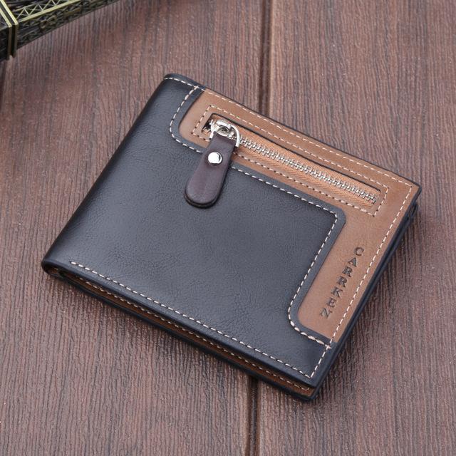 Vintage zipper Men Wallet