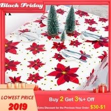 Рождественские аксессуары для украшения дома, одноразовая скатерть, креативная скатерть из ПВХ с рождественским принтом, вечерние скатерти, декор для стола Cozinha