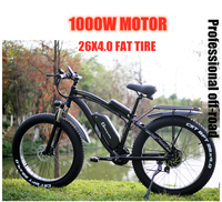 electric bike 1000W Snow bike Electric Bike Ebike 48 V electric bicycle Increase 26 inch fat tires bafang Electric machinery