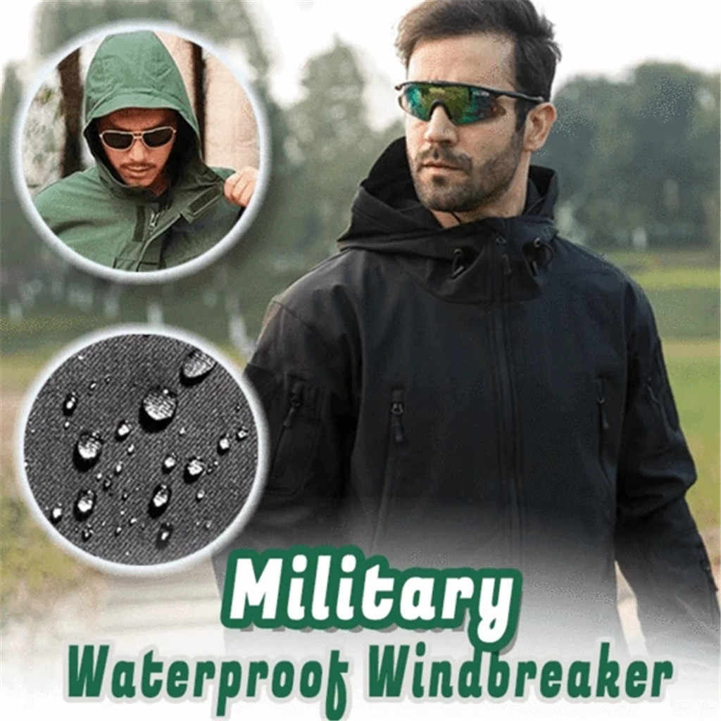 Waterproof Men Women Waterproof Tactical Soft Shell Outdoor Hiking Jacket Military Hard Shell Windbreaker Tactics Clothes