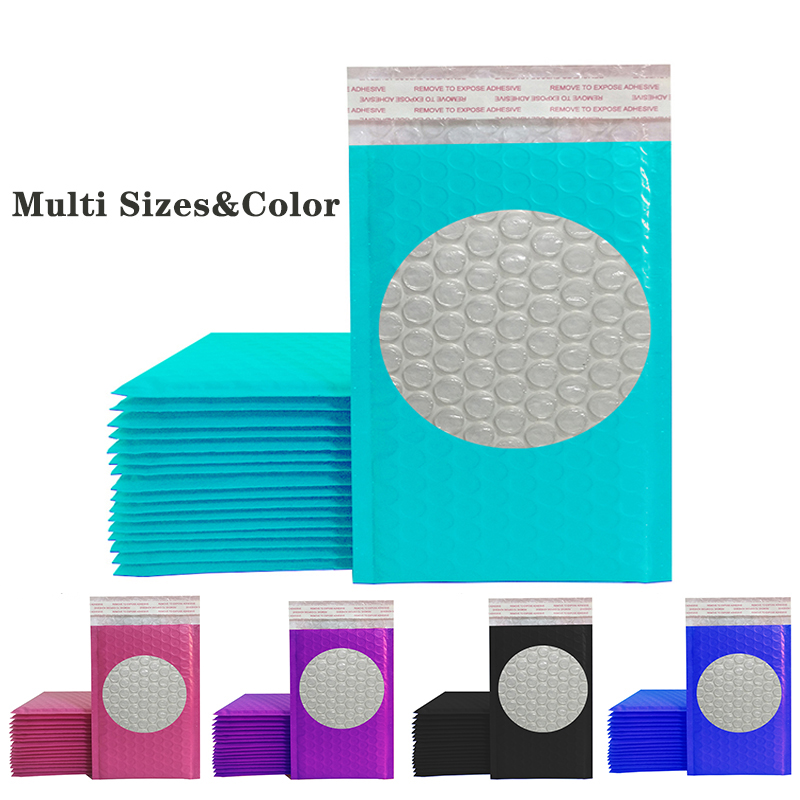 10PCS Colorful Poly Bubble Mailer Padded Envelopes Self Seal Mailing Bag Bubble Envelope Package Bag Gift Bag Storage Envelopes