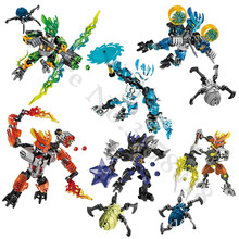 BIONICLE Series Warrior  jungle Rock Water Earth Guardian Model Building Blocks set Bricks Compatible Children Toys