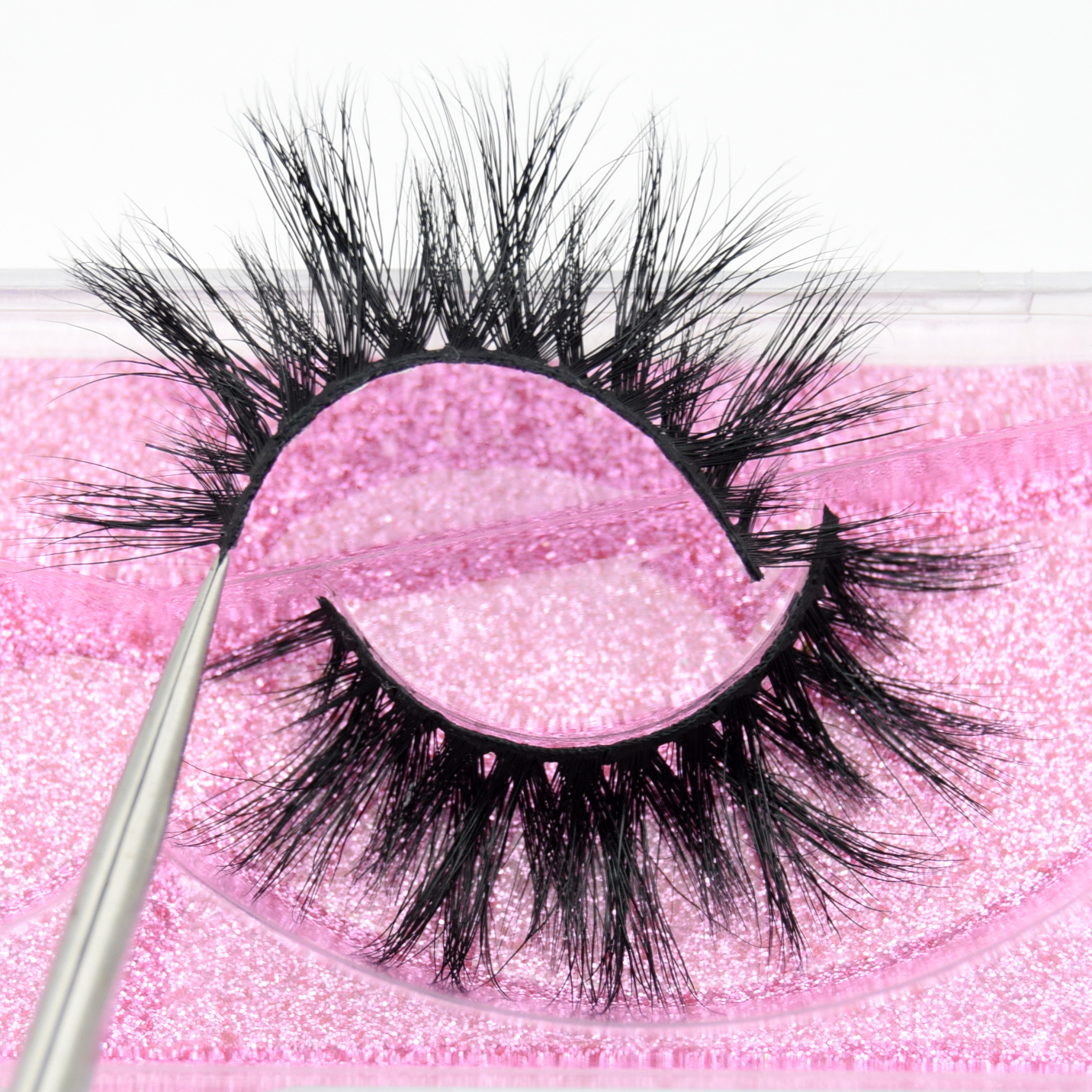Visofree Luxury 5D Mink Hair False Eyelashes Wispy Cross Fluffy Mink Lashes Extension Tools Makeup Handmade Mink Eyelashes K06