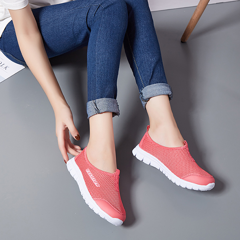 Breathable Mesh Summer Shoes Woman Comfortable Cheap Casual Ladies Shoes 2020 New Outdoor Sport Women Sneakers for Walking 2
