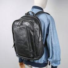 Мужской кожаный трендовый рюкзак aetoo повседневная кожаная