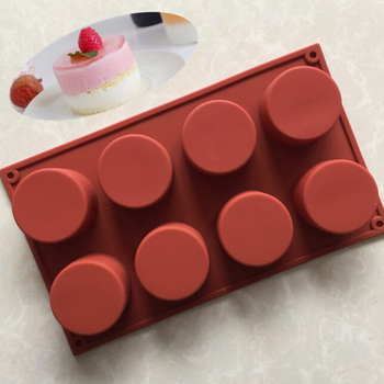 Silicone Mold 8 Lattice Round Form Cake Chocolate Mold Soap Jelly Muffin Cupcake Moulds Cake Decorating Baking Pastry Tool silicone pudding mold cake pastry baking round jelly gummy soap mini muffin mousse cake decoration tools bread biscuit mould