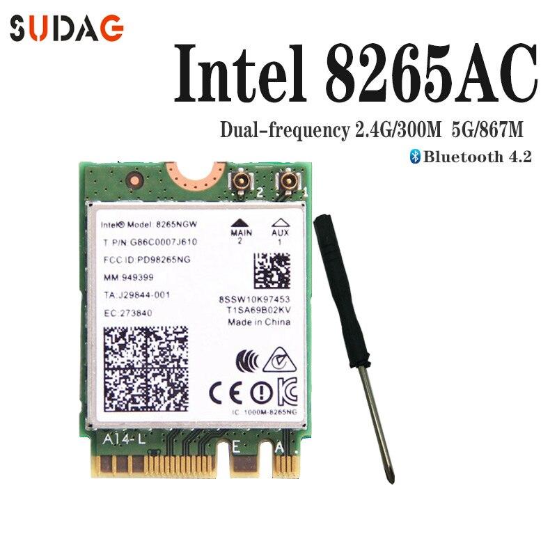 Двухдиапазонный 2,4G/5 Ghz Wifi беспроводной Bluetooth для Intel 8265NGW беспроводной-AC 8265 NGFF 802.11ac 867Mbps 2x2 MU-MIMO