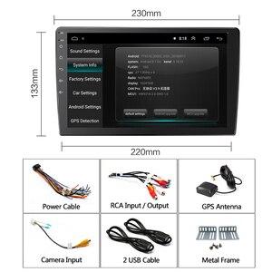 Image 5 - 2din אנדרואיד 8.1 לוח האם 9/10 אינץ לרכב רדיו GPS ניווט wifi SWC USB מגע מסך 1G + 16G עבור אוניברסלי Hoxiao CARLAOER