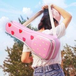 Новый водонепроницаемый Гавайские гитары укулеле сумка чехол 23 дюймов концертный рюкзак Carry Gig портативный искусственная кожа клубника Лай...