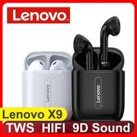 Lenovo nuevo X9 Bluetooth inalámbrico verdadero 5,0 auriculares de Control táctil estéreo HIFI largo 300mAH de espera para Huawei Xiaomi auricular