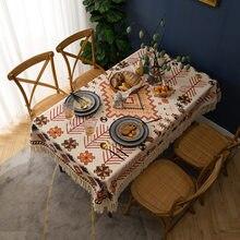 Cotton Tablecloth Soft Retro Table Cover for Table Tassel Rectangle Cloth Obrus Tafelkleed Mantel De Mesa