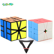 QiYi Little Magic SQ-1 Magnetic Strange Shape SQ1 Cubo Magico Puzzle Square-1 Twisty Learning Educational Kids Toys Game Sticker