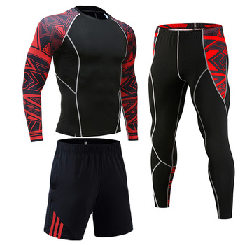 Men's Compression Sportswear Suits Gym Tights Training Clothes Workout Jogging Sports Set Running Rashguard Tracksuit For Men 20