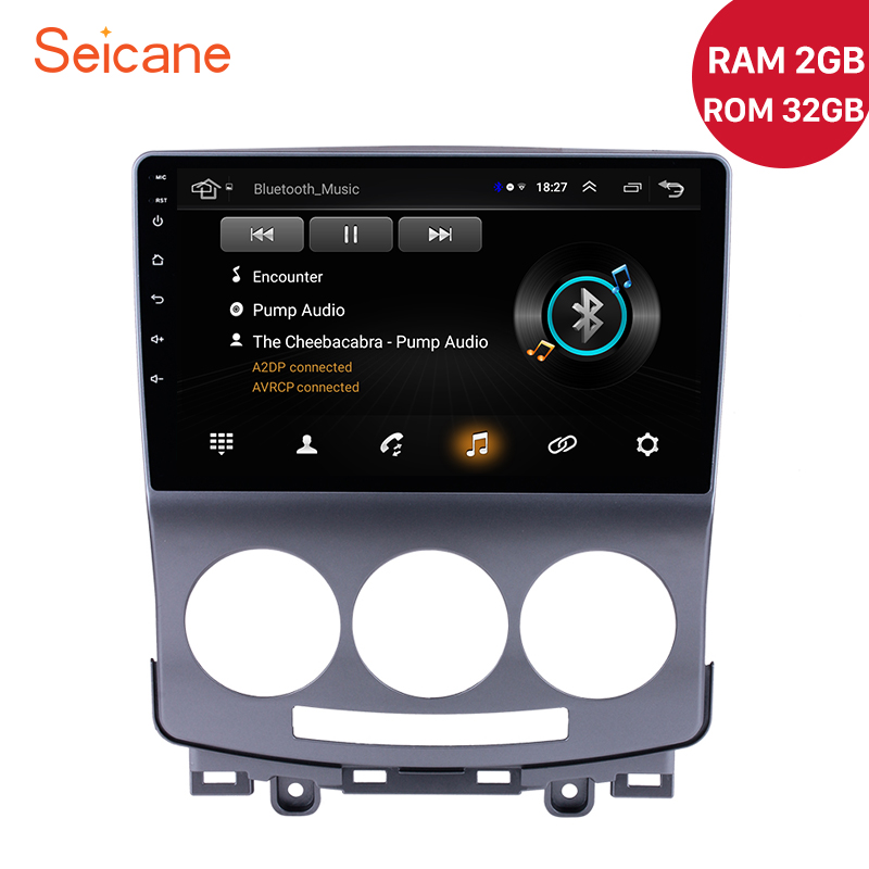 Seicane 9 Inch <font><b>2Din</b></font> RAM 2GB Car GPS Unit Android 8.1 Car Radio For 2005-2010 Old <font><b>Mazda</b></font> <font><b>5</b></font> Multimedia Player Support OBD2 DAB+ image