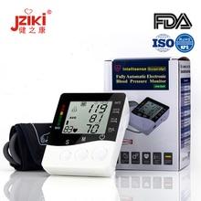 Jziki Upper Arm Blood Pressure Monitor Pulse Heart Rate Voice Cuff Health Care Tonometer Digital LCD BP Meter Sphygmomanometer