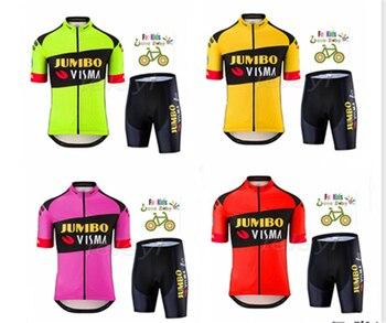 2020 transpirable ineos niños ciclismo Jersey conjunto pantalones cortos niños bicicleta ropa...