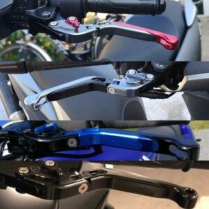 Image 5 - Para suzuki gsf 650 1200 1250 bandit motocicleta embreagem alavanca do freio de alumínio extensível ajustável dobrável alavancas