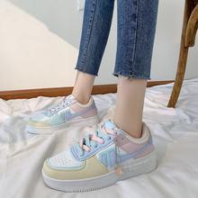 Кроссовки женские на платформе без шнуровки, дышащие лоферы, повседневная обувь для бега, плоская подошва, Модные кеды, карамельные цвета