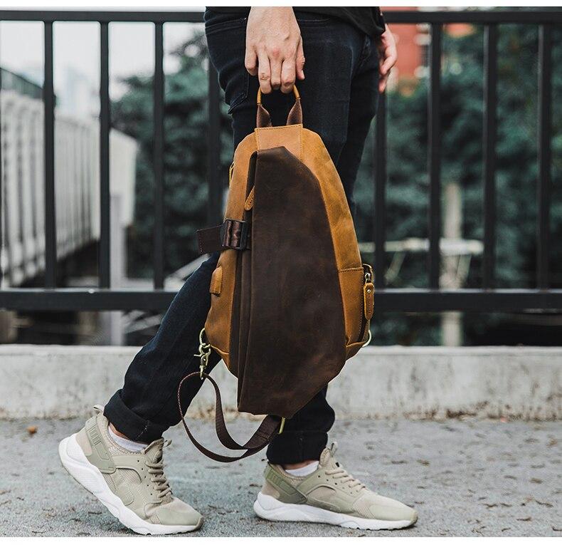 vaca homem vintage casual portátil bolsa sacos