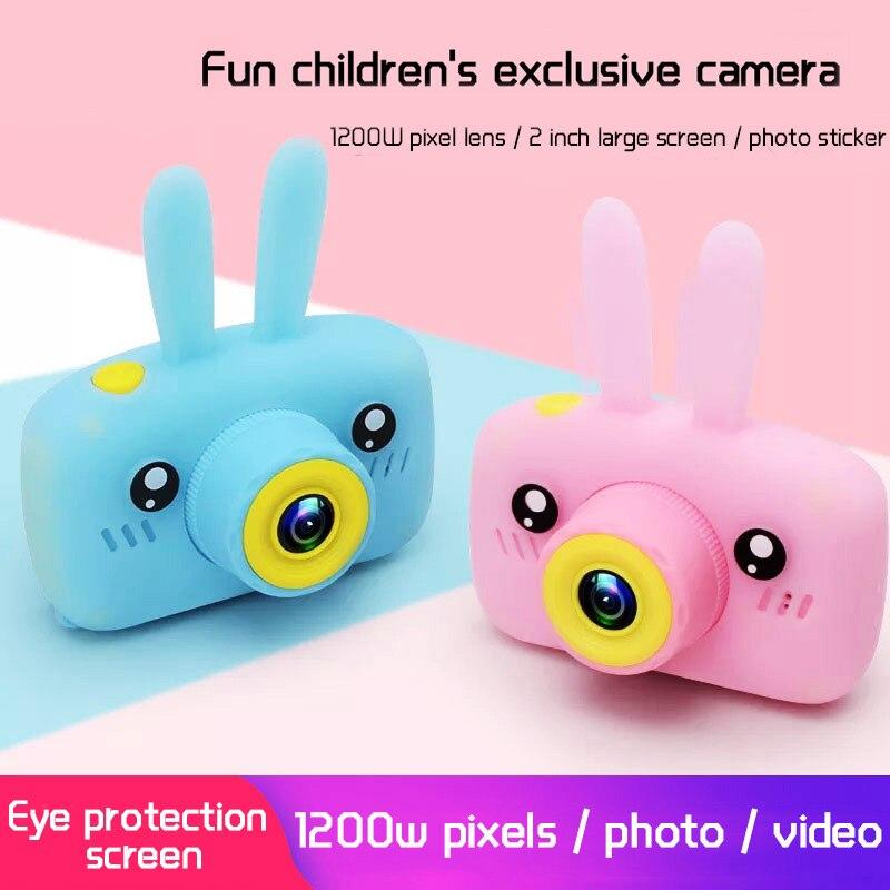 Crianças mini câmera completa hd 1080 p portátil digital câmera de vídeo foto 2 Polegada tela exibição crianças forkid jogo estudo câmera