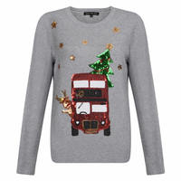 Funny Pattern Lady Hoodies Cute Cart Christmas Tree Sequins Sweatshirt Long Sleeve Autumn Winter Casual Hoodie