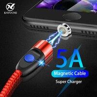 Cable magnético de carga rápida 5A para iPhone, Samsung, xiaomi, Cable USB tipo C, cargador magnético y sincronización de datos