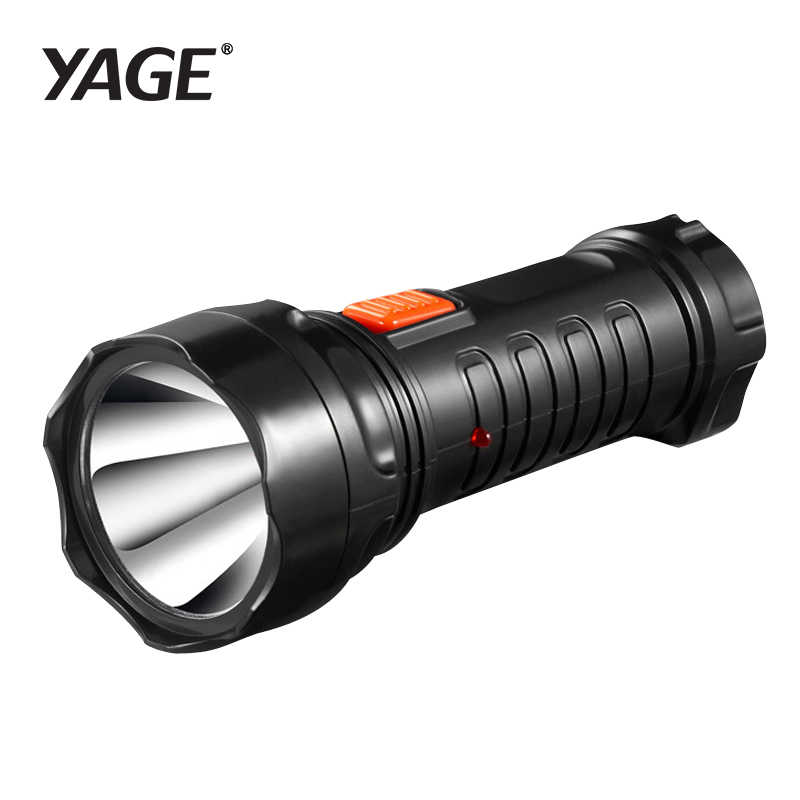 2016 tazer yage-3738 led 2-mode senter cahaya obor rechargable built-in baterai lanterna linterna lampe torche