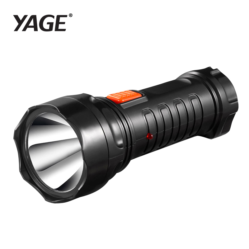 YAGE-3738 Led Flashlight Rechargable Torch Built-in Battery Light 2-mode Lanterna Linterna Lampe Torche EU/USA/UK Plug