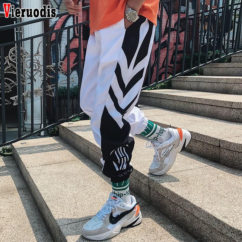 Men Loose Casual Harem Pants Ankle Length Trousers Men Sweatpants M-3XL Men's  2019 Streetwear Hip Hop Joggers Pants