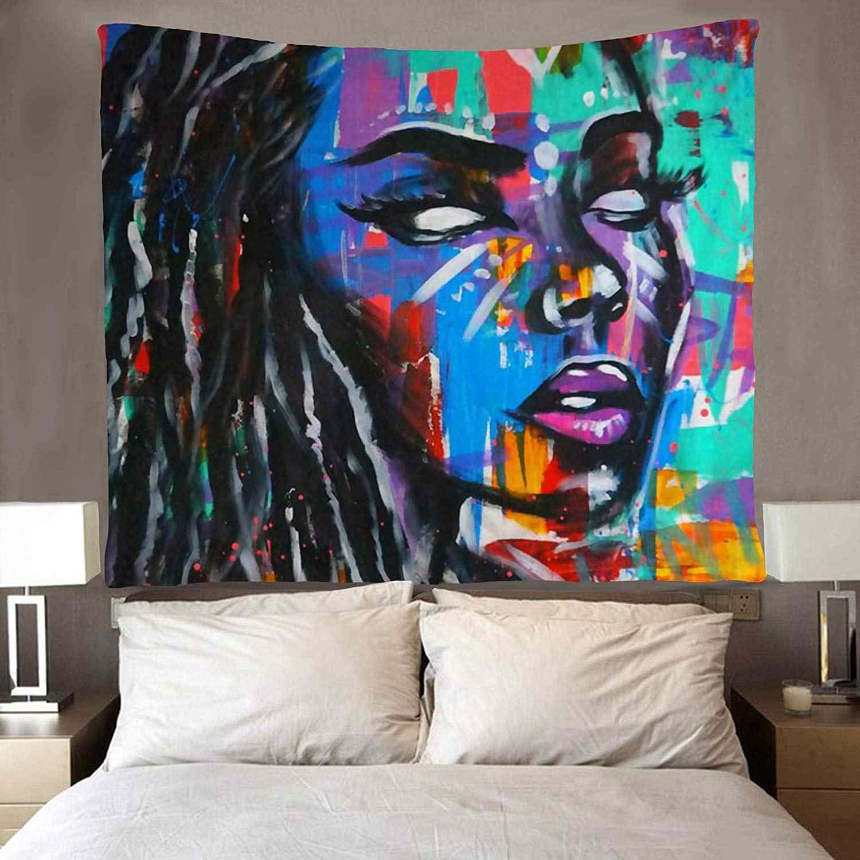 Hippie Art African American Donne Arazzi Wall Hanging Coperte e Plaid Tovaglia per Soggiorno Camera Da Letto Dormitorio