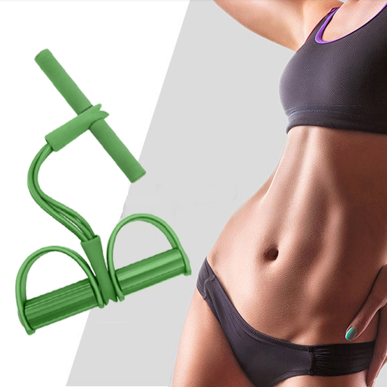 Indoor Fitness Rope 4 Tube Resistance Bands Exercise Equipment Elastic Sit Up Pull Bands Latex Pedal Exerciser Yoga Equipment