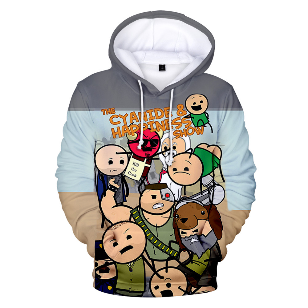 USA Animation The Cyanide & Happiness Show 3D Hoodies Boy/Girl personality Funny Casual Hooded pullovers image
