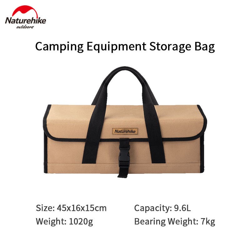 Naturehike Camping Storage Bag 9.6L large Capacity Outdoor Travel Equipment Box Picnic Sundry Bag Portable Tent Accessories Tool