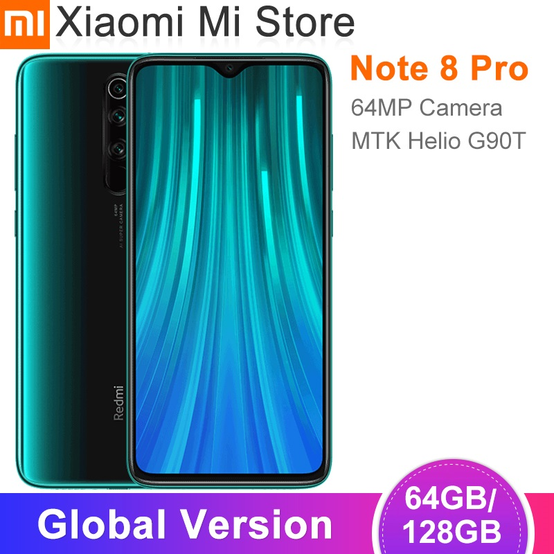 В наличии глобальная версия Xiaomi Redmi Note 8 Pro 64GB/128GB смартфон 64MP камера 6,53