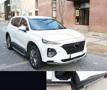Side step fits for Hyundai Santa Fe ix45 2019 2020 running board nerf bar 2Pcs left right Aluminium side step side pedal stairs