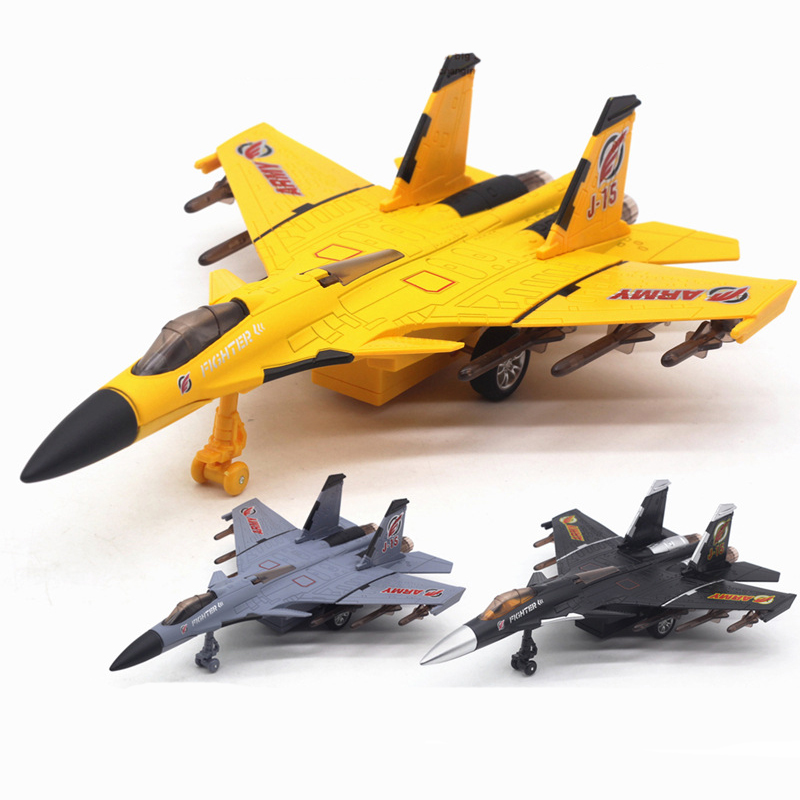 Kids Airplane Model Alloy Toy 1:150 Pull Back High Simulation Air Force Music&light Diecast Aircraft Children Fighter Toy TY0544 image