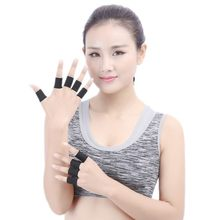10 PC Elastic Polyester Sports Finger Support Guards Size 3.5 x 3cm Elastic ventilated and sweat absorbing Finger Support Guards(China)